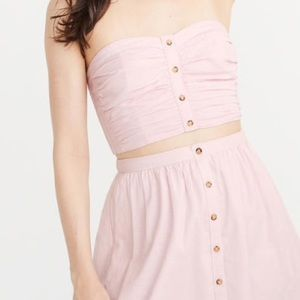 Button Front Tube Top